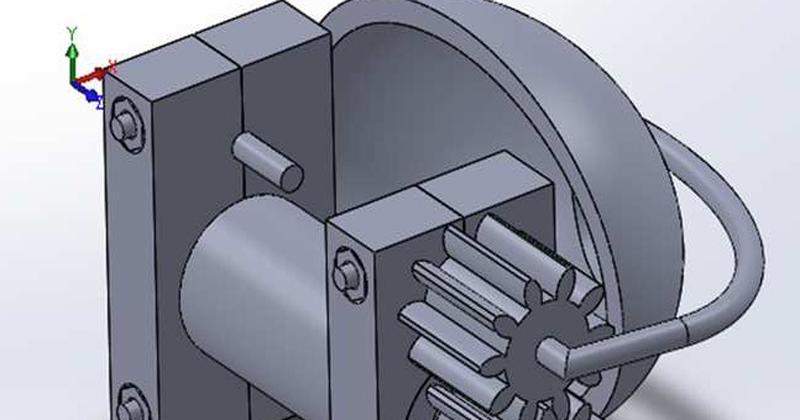 O sistema de movimentação de pálpebra é acoplado à parte posterior da prótese - Imagem: Arquivo dos pesquisadores