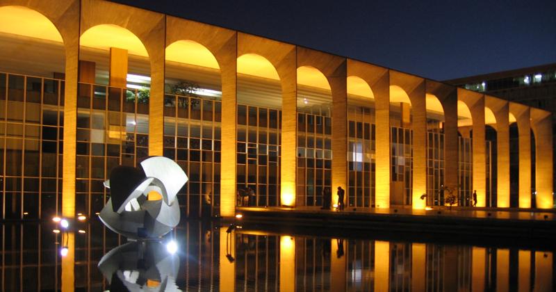 Palácio Itamaraty, em Brasília - Foto: Wikimedia Commons