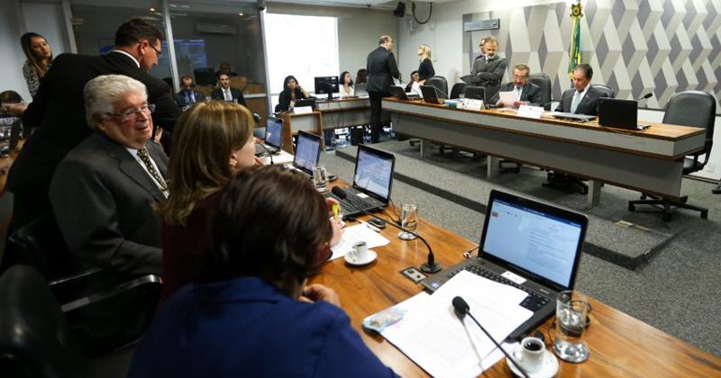 A Comissão de Constituição e Justiça (CCJ) do Senado se reúne para apreciar e votar a Foto: Marcelo Camargo/Agência Brasil