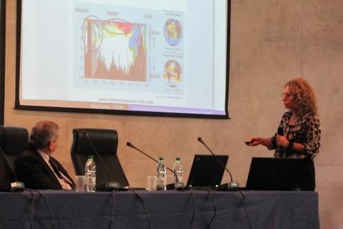 Ilana Wainer, professora do Departamento de Oceanografia Física do Instituto Oceanográfico da USP, na FAPESP Week Montevideo