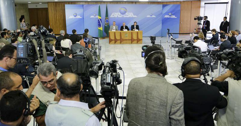 Coletiva de imprensa no Palácio do Planalto fala sobre a operação Lava-jato - Foto: Marcos Correa/PR/Agência Brasil