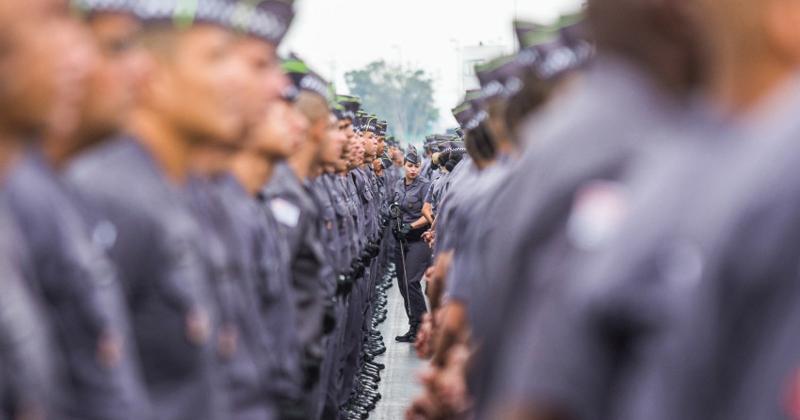 2.811 novos policiais militares em formatura realizada no sambódromo do anhembi em São Paulo - Foto: Eduardo Saraiva/A2IMG via Fotos Públicas