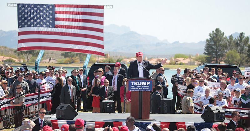 Donald Trump durante campanha presidencial - Foto: Visualhunt
