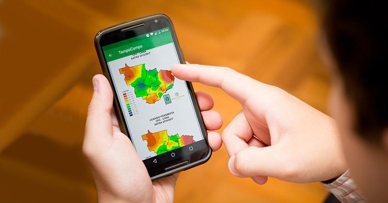 Aplicativo traz informações sobre como a cultura da cana-de-açúcar se desenvolve em relação à parte climática - Foto: Gerhard Waller