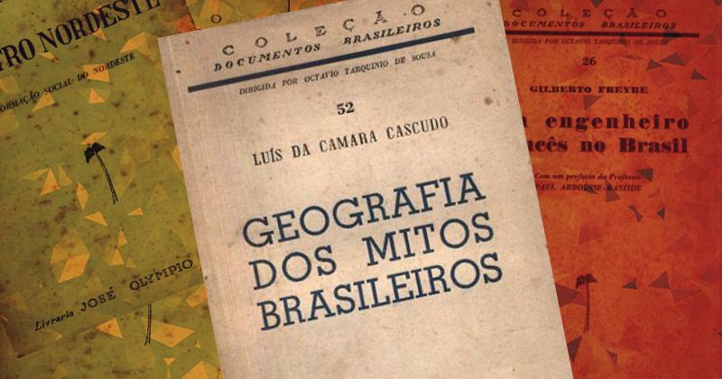 Coleção documentos brasileiros, da José Olympio: editora preocupada em divulgar autores brasileiros na área de ciências humanas - Imagem: Arte sobre capas de livro