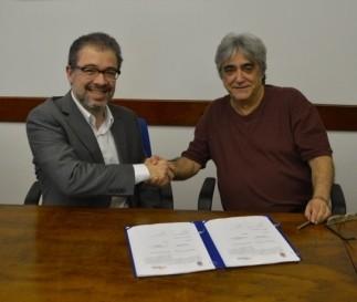 Professor Piqueira e o gerente geral da AWS no Brasil, José Nilo Cruz Martins
