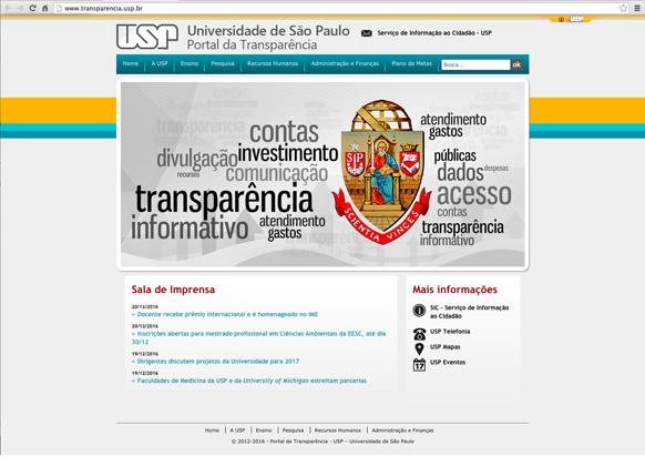 Site Transparência da USP - Foto: Divulgação