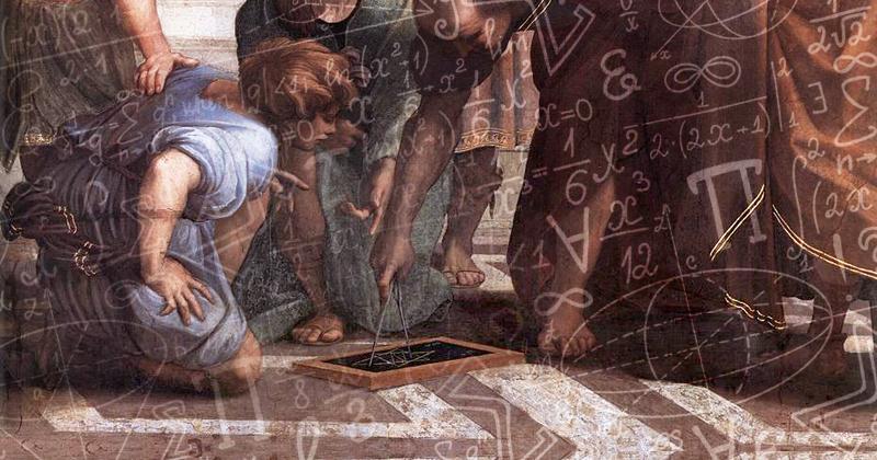 Imagem: arte sobre pintura / The School of Athens, Raphael (1509–1511)