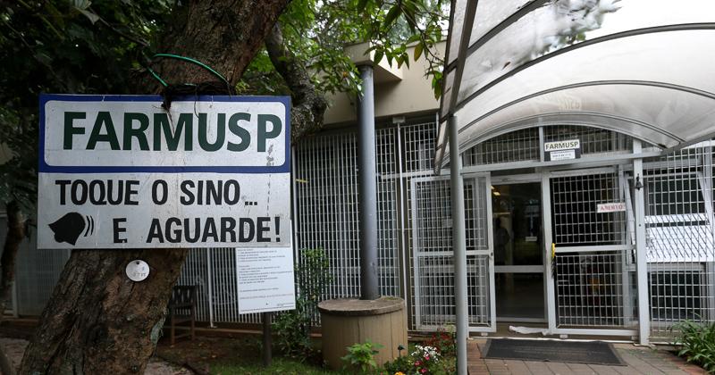 Fachada Farmácia Universitária - Foto: Marcos Santos/USP Imagens