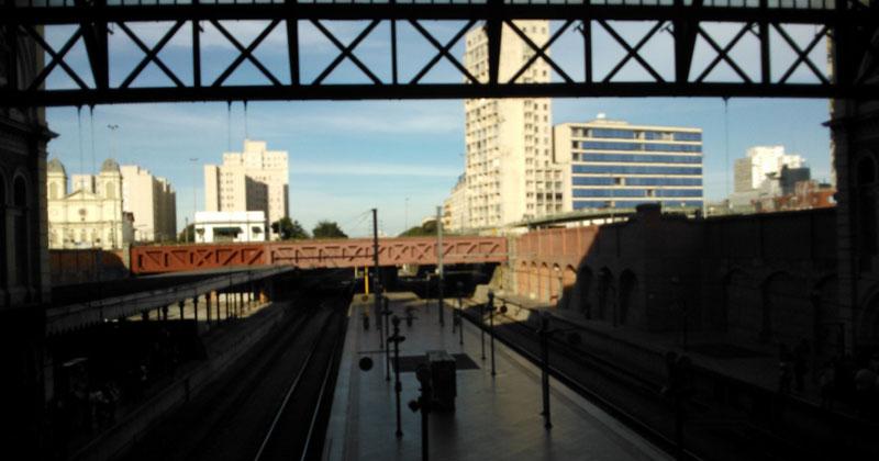 Vista Interna da Estação da Luz – Foto: Gisele Falcari Ramos da Silva