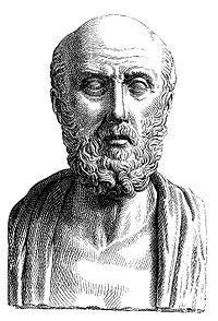 Hipócrates: Grego Hipócrates, considerado pai da medicina, criador da Teoria dos humores - Imagem: Wikimedia Commons