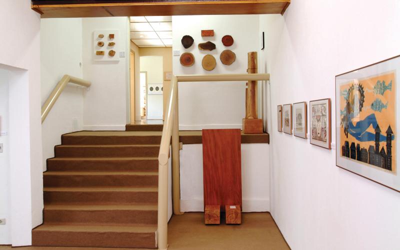 Sala apresenta os diversos tipos de madeira – Foto: Divulgação Museu Casa da Xilogravura