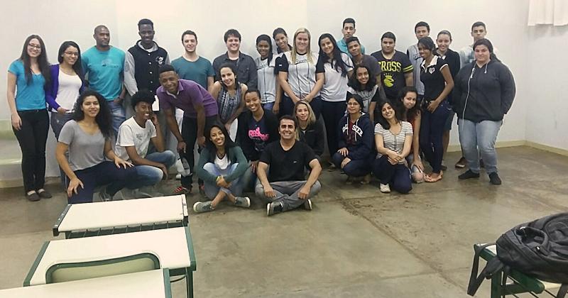 Estudantes após encontro do Projeto Salvaguarda - Foto: Arquivo Pessoal
