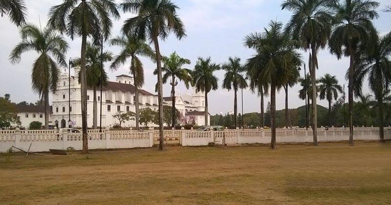 Localizada em Pangim, capital de Goa, a construção católica é reflexo da presença do colonialismo português no estado Foto: Arquivo pessoal/Duarte Drumond Braga