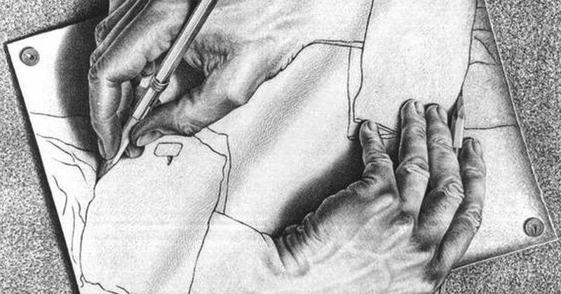 Desenhista holandês Escher serviu para construir modelo teórico de funcionamento da mente humana - Foto: Wikimedia Commons