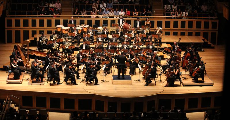 A Orquestra Sinfônica da USP, em apresentação na Sala São Paulo - Foto: Wagner Polistchuk