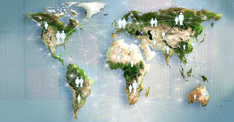 Aldeia global - Ilustração: Reprodução/Linkedin