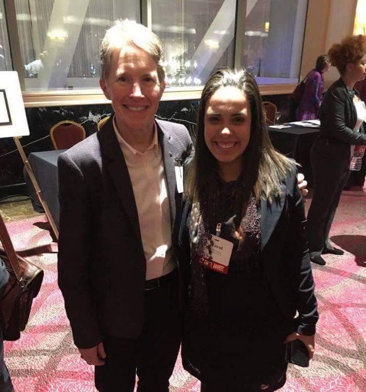 Carolina Sotério com a presidente da ACS, Allison Campbell, em sua visita aos Estados Unidos - Fonte: Divulgação