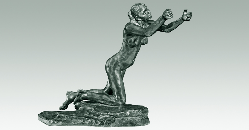 """A suplicante"": imagem da escultura de Camille Claudel"