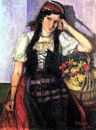 """""""Georgina"""", retrato da irmã de Anita exposto em 1914 e criticado por Freitas Valle. Óleo sobre tela"""