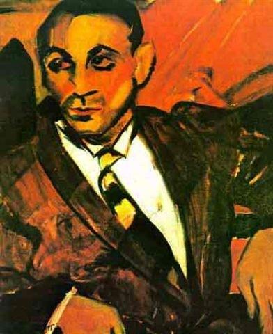 """""""Homem Amarelo"""" é um dos quadros de 1917 que mostra o desenvolvimento do expressionismo nas obras da Anita Malfatti"""