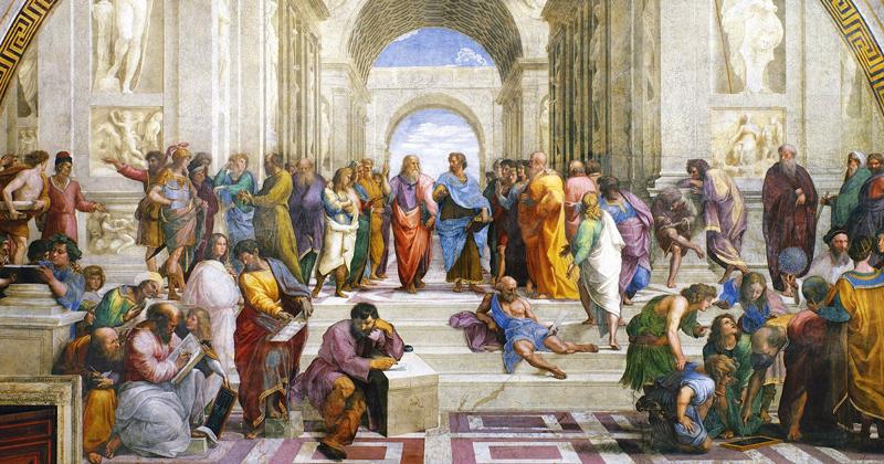 Retórica em pautas - Pintura: A Escola de Atena, de Rafael
