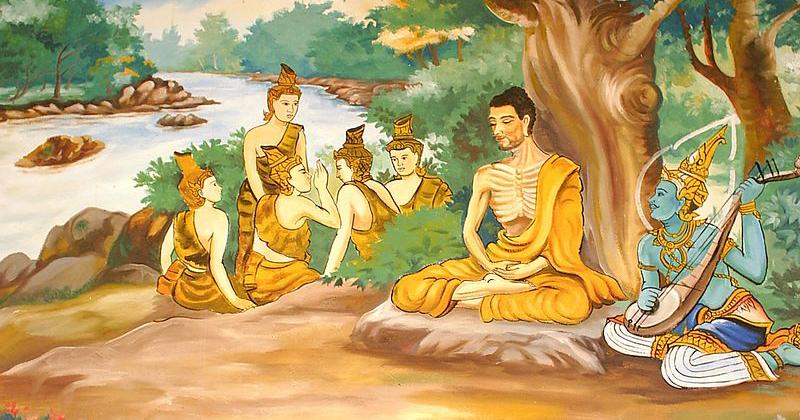 Budismo: pintura da parede de um templo no Laos - Foto: Wikimedia Commons