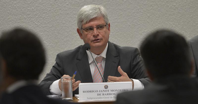 Rodrigo Janot: lista pode envolver 200 nomes de parlamentares que foram indicados nas delações da operação Lava Jato - Foto: Wilson Dias/Agência Brasil