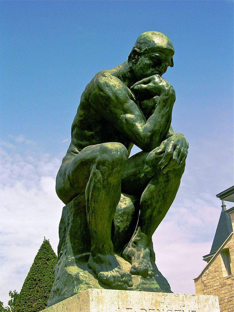 O pensador, de Rodin - Foto: AndrewHorne / Wikimedia Commons