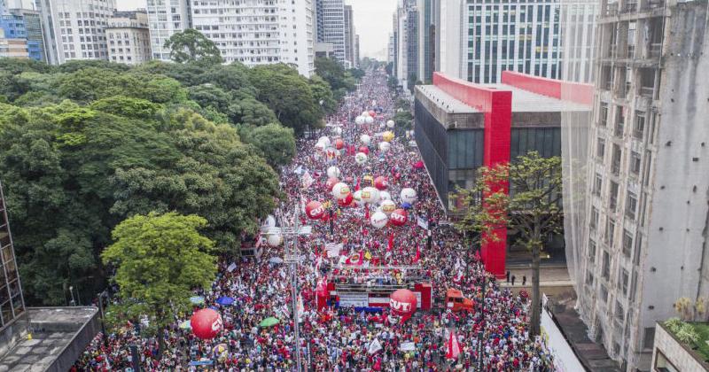 Manifestação de centrais sindicais contra a mudança do sistema de previdência na Avenida Paulista - Foto: Ricardo Stuckert/Fotos Públicas