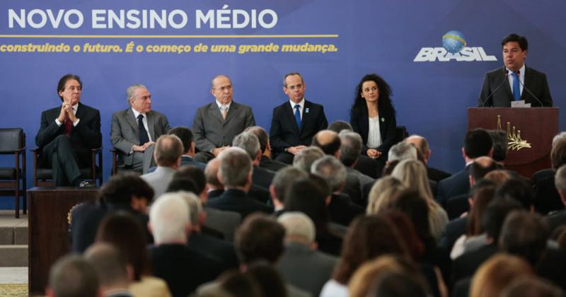 Cerimônia de Sanção da Lei do Novo Ensino Médio - Foto: Marcos Corrêa/PR via Fotos Públicas
