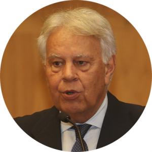 Felipe González discursa sobre a crise governança no mundo - Foto: Cecília Bastos/USP Imagens