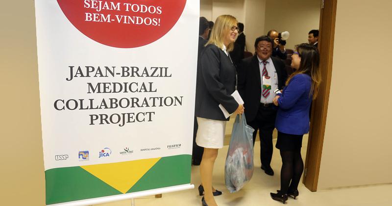 Cerimônia do lançamento do Projeto de Cooperação Brasil e Japão do Centro de Detecção de Cancer -Foto: Cecília Bastos/USP Imagens