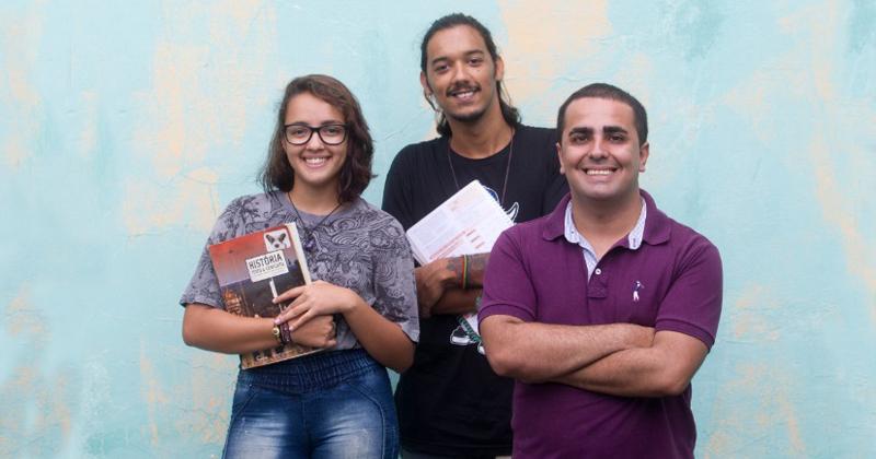 Helena, Lucas e Vinícius estão envolvidos com o Projeto Salvaguarda - Foto: Matheus Urenha via A Cidade/RP