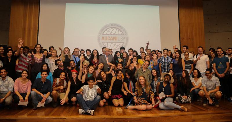 Participantes do evento de integração dos alunos internacionais - Foto: Cecília Bastos/USP Imagens