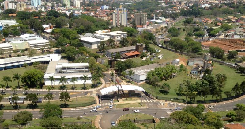 Vista aérea da área norte do Campus de São Carlos. Foto: Masaki Kawabata Neto