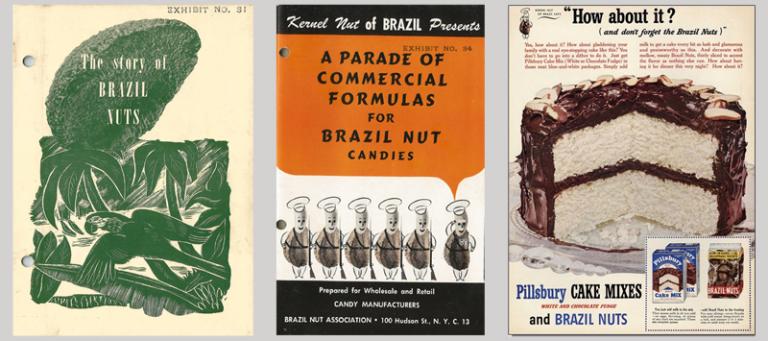 Receitas utilizando a castanha-do-pará, impressas pela Brazil Nut Association – Arquivo do autor