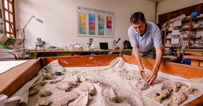 Na Ufac, a paleontologia existe há 35 anos. Começou em Rio Branco e depois um outro laboratório foi montado no Campus Floresta - Foto: Cecília Bastos/USP Imagens