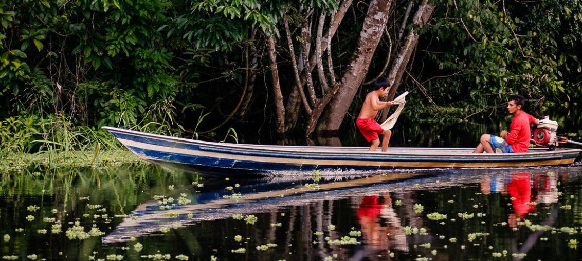 O Rio Croa está localizado a cerca de 22 quilômetros de Cruzeiro do Sul, no Acre, e encanta os visitantes pela paisagem repleta de belezas naturais - Foto: Cecília Bastos/USP Imagens