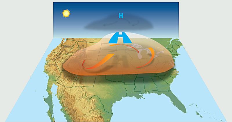 Formação de uma onda de calor