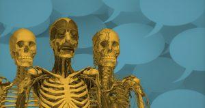 No esqueleto humano, o número de ossos diminui com a idade