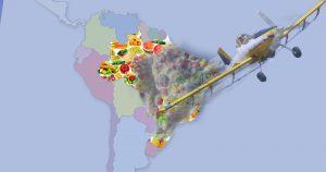 Lançado na Europa mapa do envenenamento de alimentos no Brasil