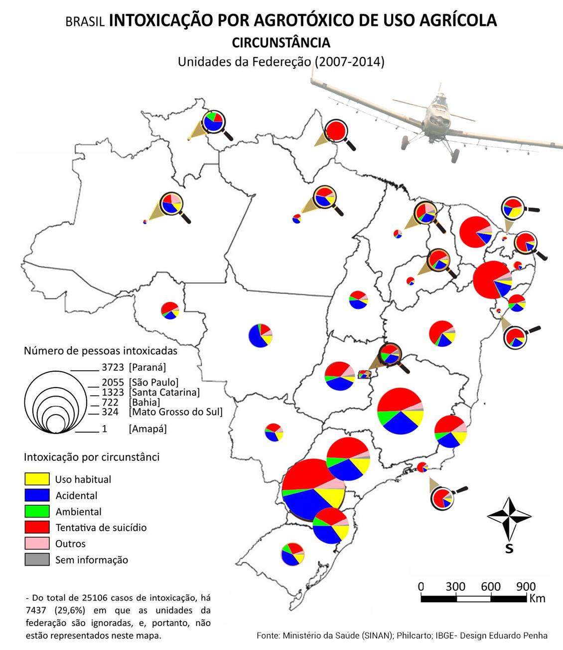 Brasil - intoxicação por agrotóxico de uso agrícola