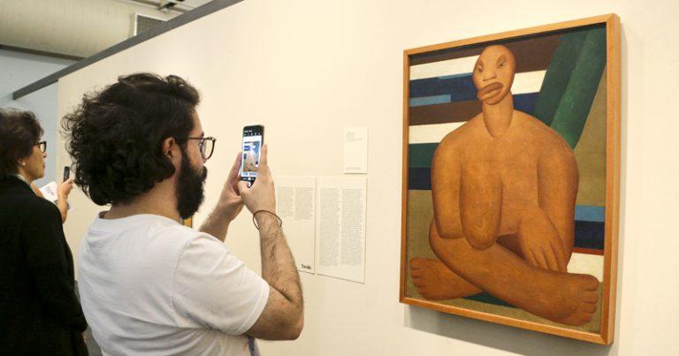 """A Negra de 1923. Exposição de Tarsila do Amaral: """"Tarsila Popular"""". Museu de Arte de São Paulo (MASP). 2019/06/28 Foto: Marcos Santos/USP Imagens"""