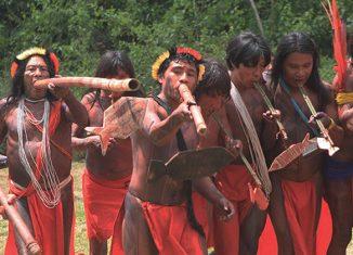 Índios da etnia Waiapi -  Foto: Heitor Reali/IPHAN/iphan.gov.br