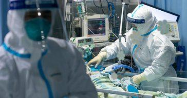 Paciente no Hospital Zhongnan da Universidade de Wuhan, em Hubei, na China Central - Foto: Governo China via Fotos Públicas