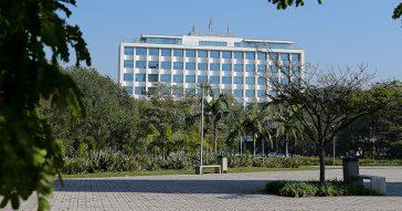 Vista do prédio da Reitoria - Foto: Marcos Santos / USP Imagens
