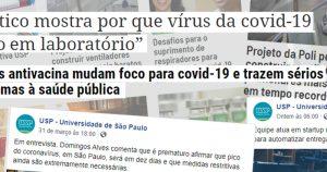 Contribuições da Universidade para combate à covid-19 levam Jornal da USP a bater recorde