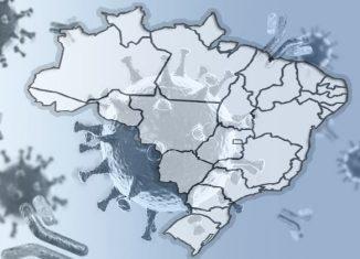 Mapeamento /rastreamento - Brasil - Foto montagem