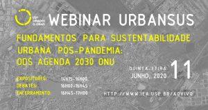 Evento on-line discute sustentabilidade urbana no pós-pandemia